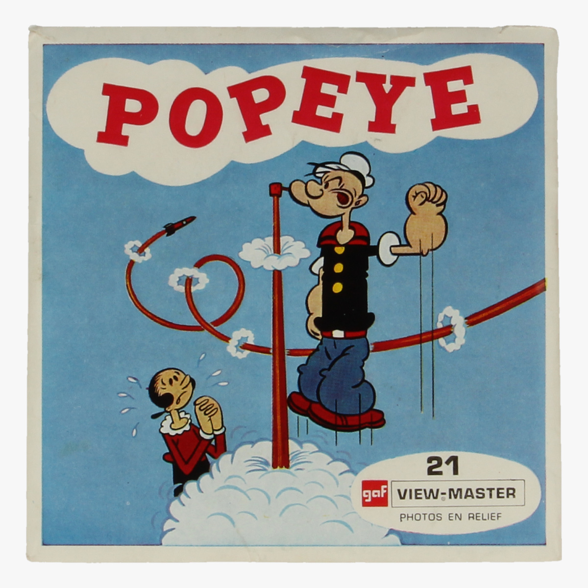 Afbeeldingen van View-master Popeye Alle kwasten aan dek, De anti-raket, Erwtje moet naar school