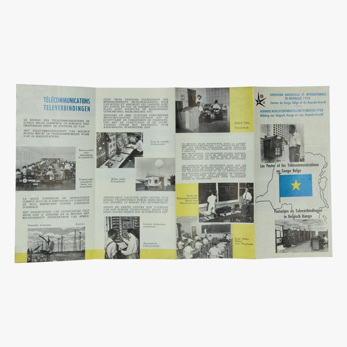 Afbeeldingen van folder expo 58 afdeling van belgisch kongo en van ruanda-urundi