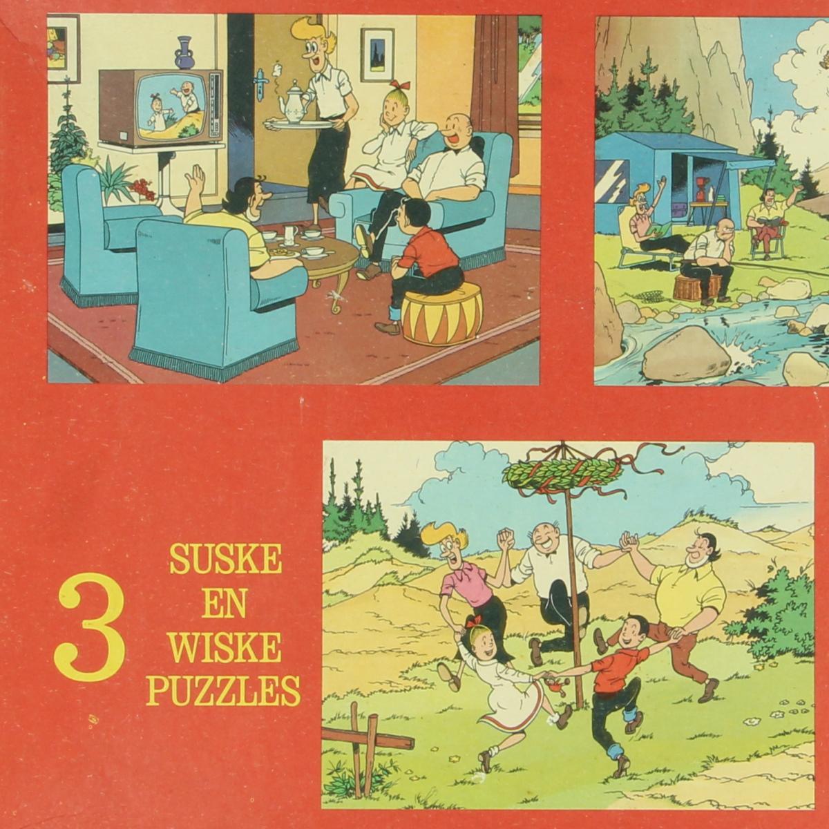 Afbeeldingen van Suske en Wiske. Puzzels