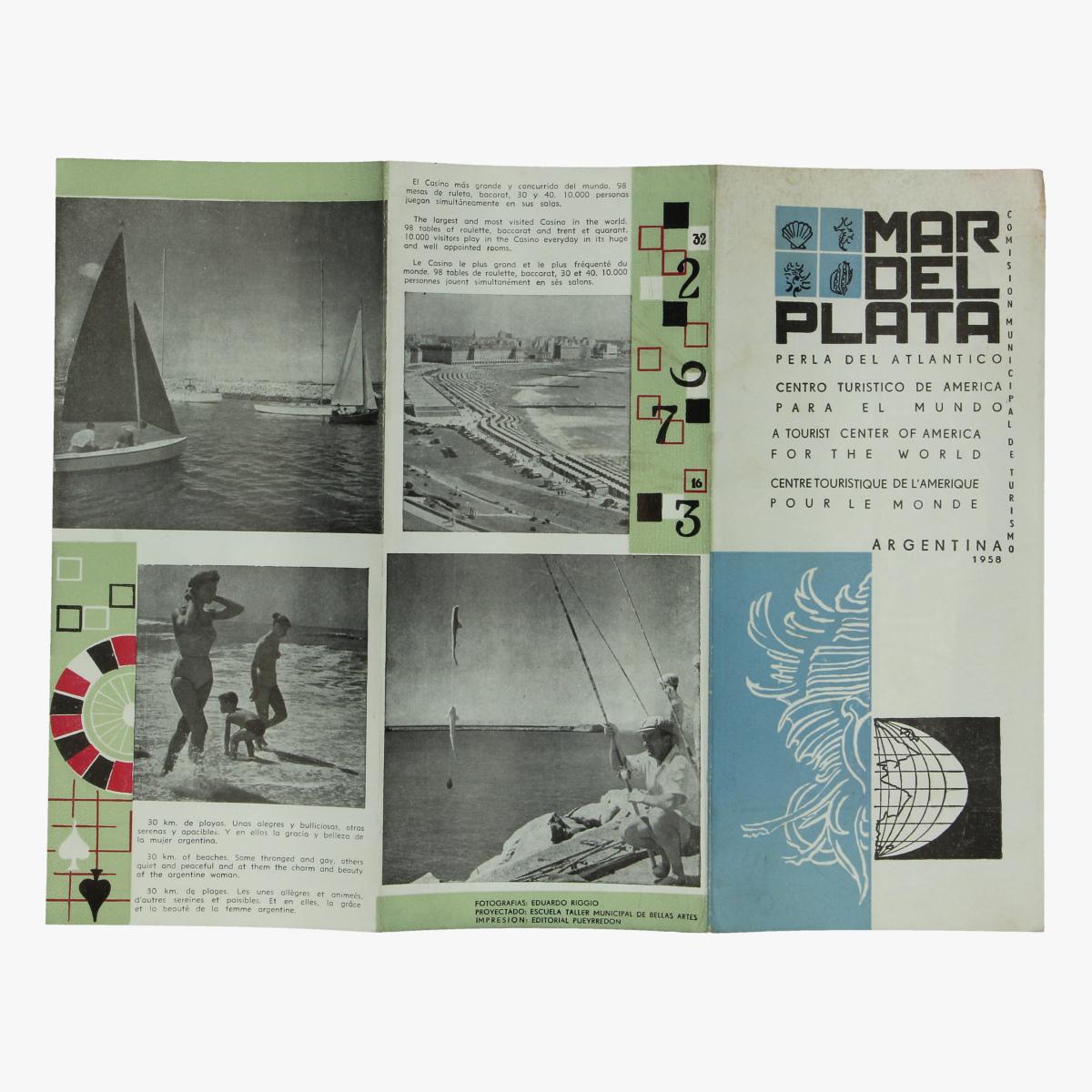 Afbeeldingen van expo 58 folder mar del plata republica argentina