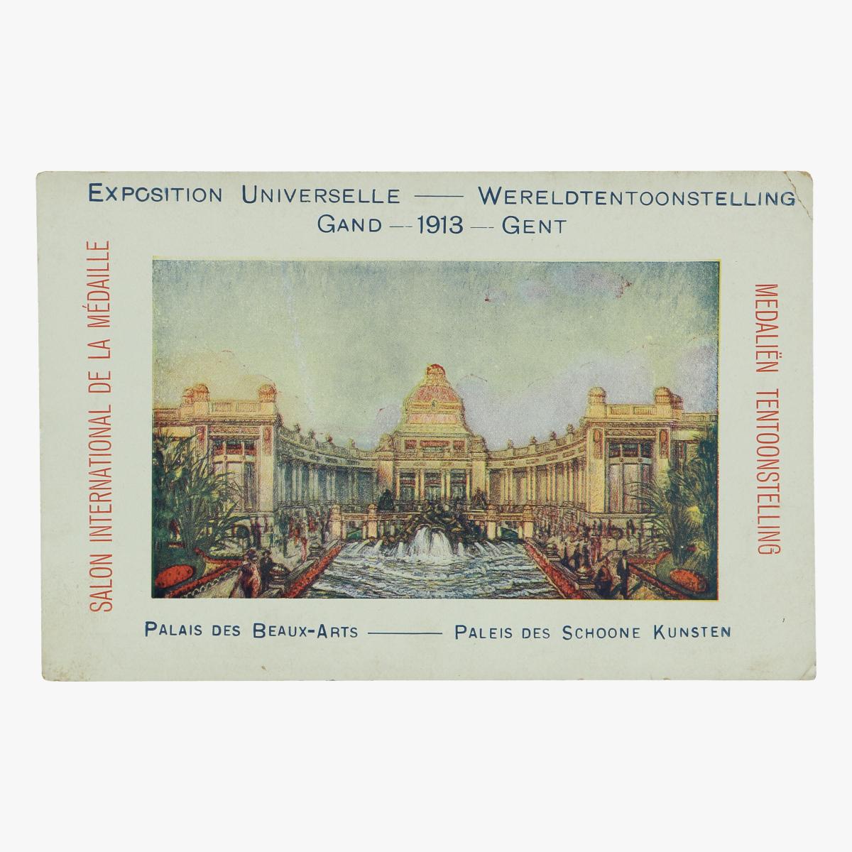 Afbeeldingen van postkaart wereldtentoonstelling gent 1913 paleis des schoone kunsten