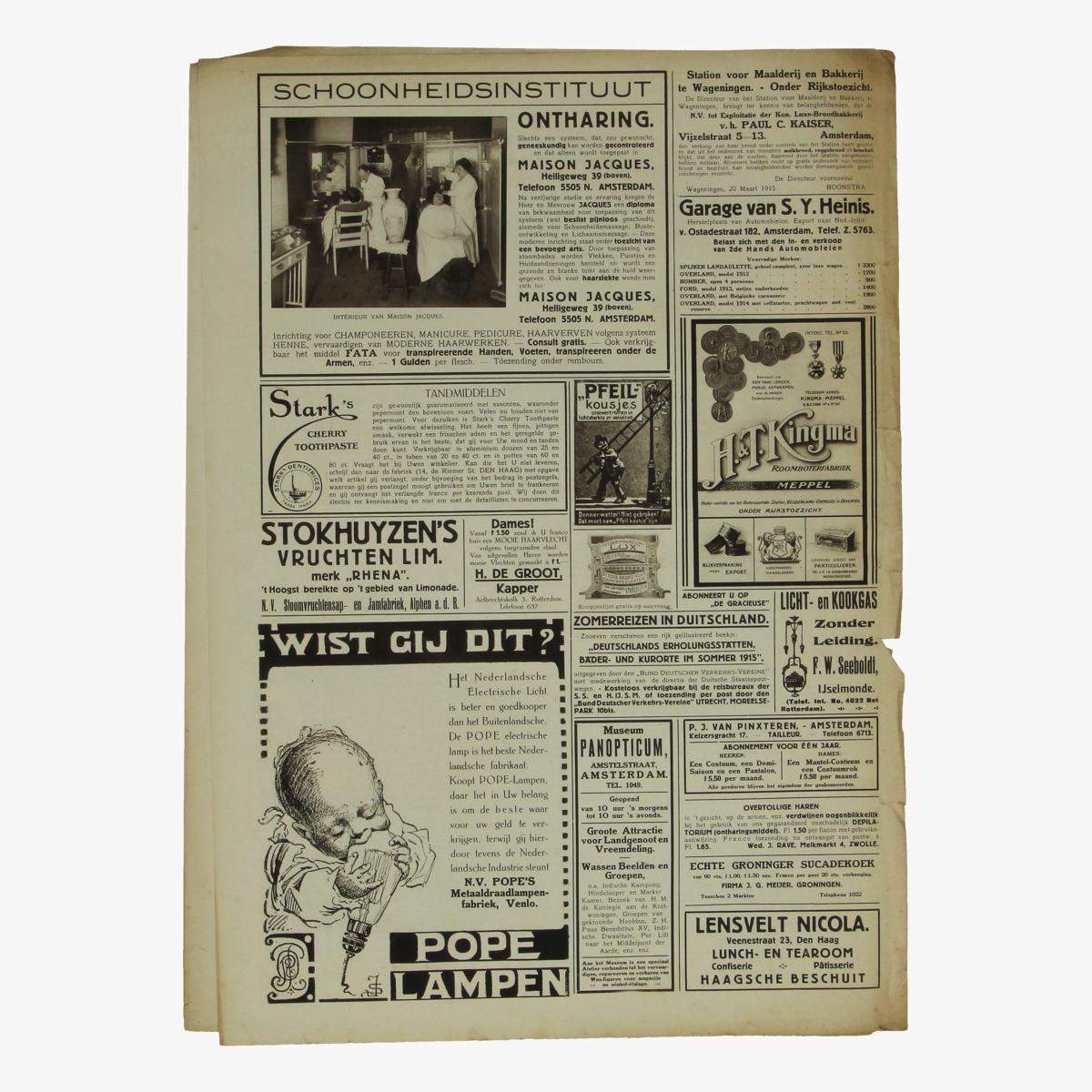 Afbeeldingen van oude weekblad panorama N°66   16 aug. 1915