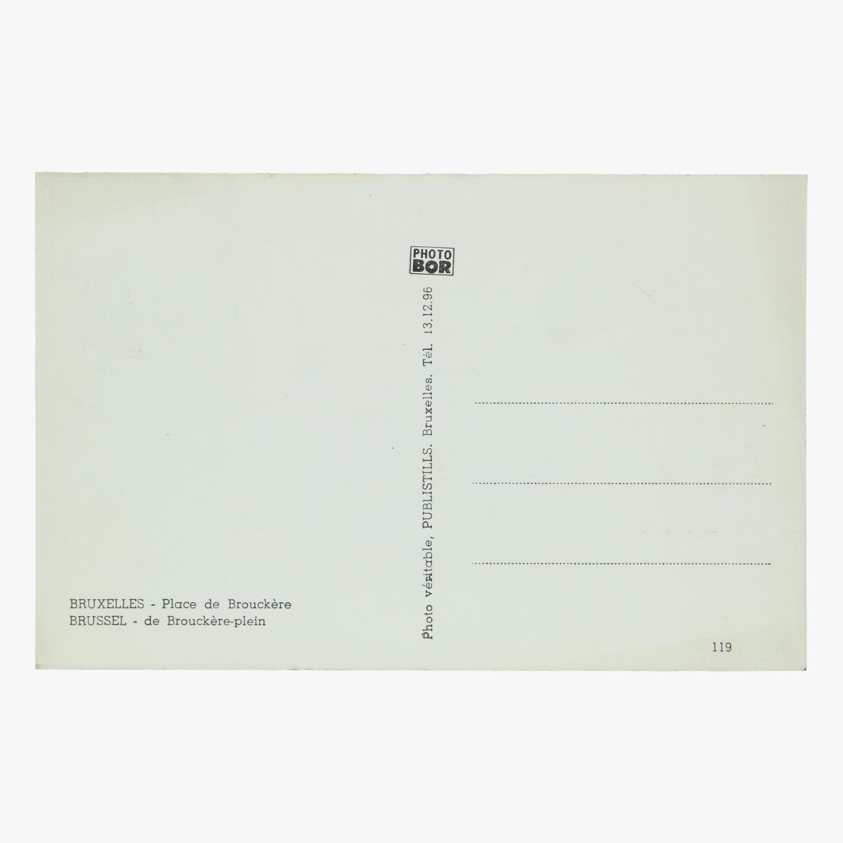 Afbeeldingen van oude postkaart bruxelles place de brouckere