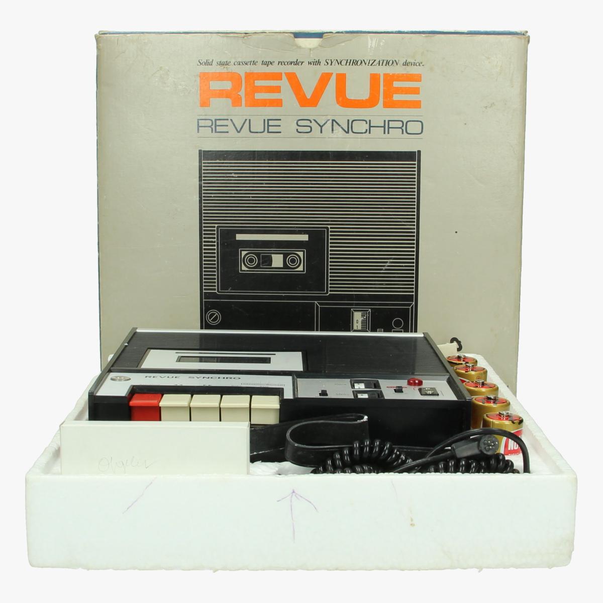 Afbeeldingen van Kasettenspeler, Revue Synchro , Tape Recorder Best. Nr. 8201