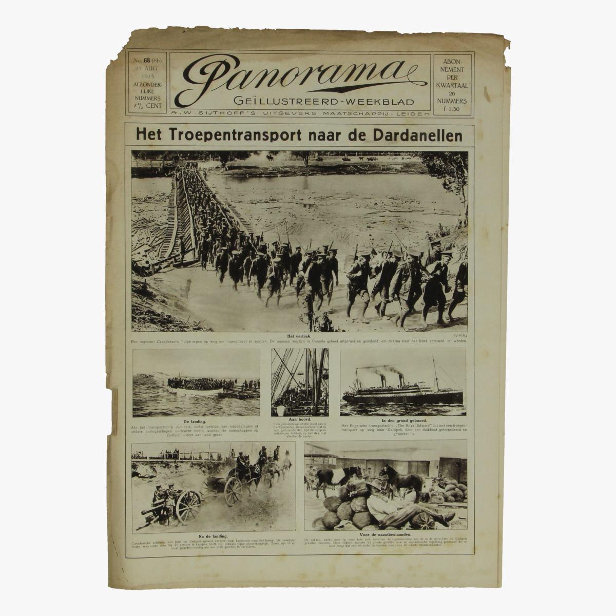 Afbeeldingen van oude weekblad panorama N°68  23 aug. 1915.