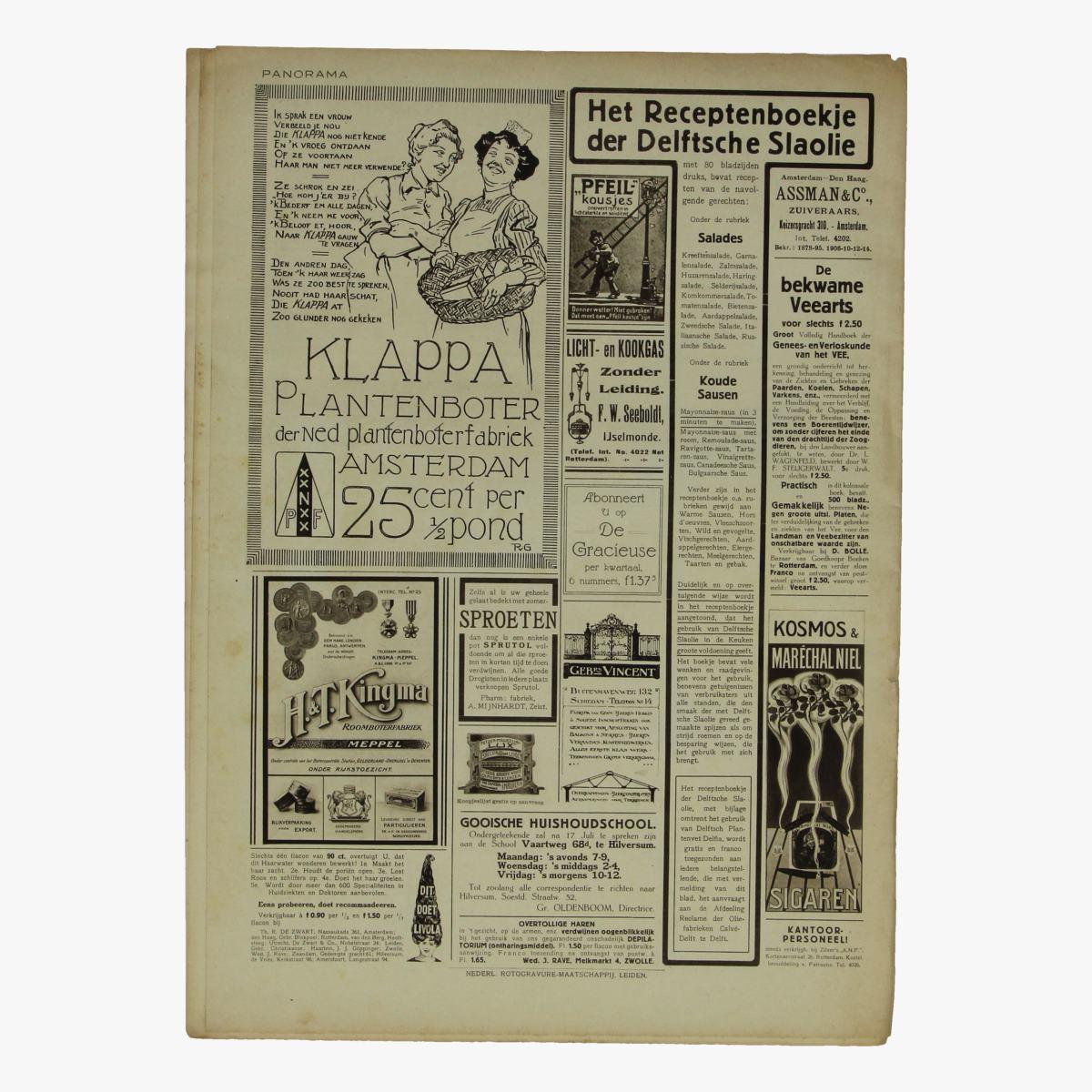 Afbeeldingen van oude weekblad panorama N°60  26 juli 1915