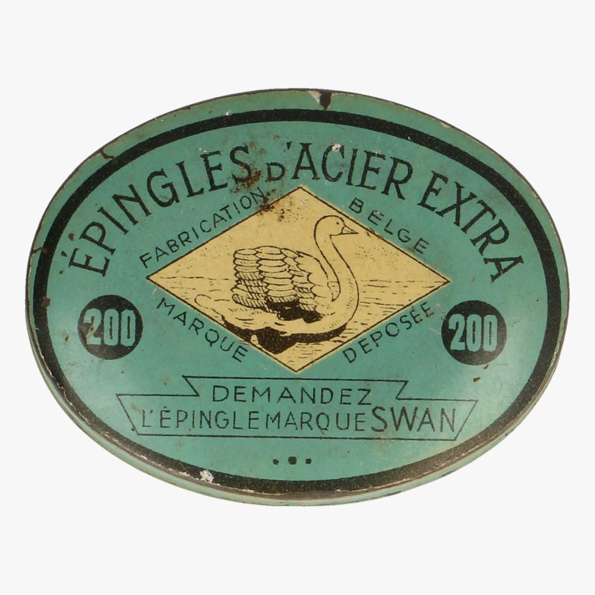 Afbeeldingen van blikken doosje epingles d'acier extra fabrication belge
