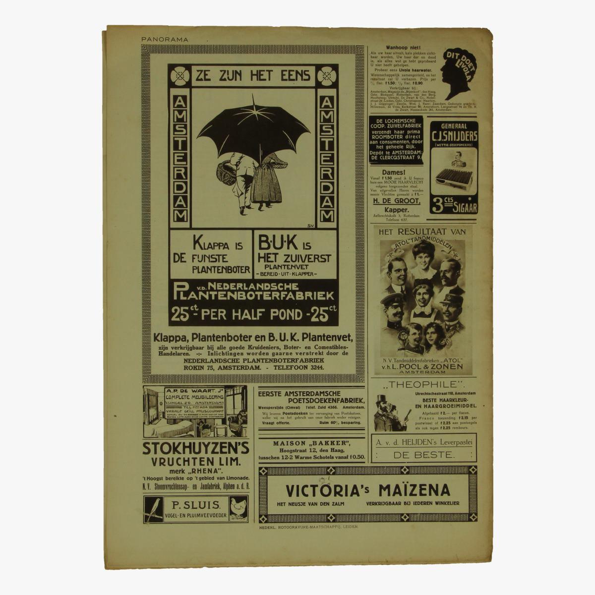 Afbeeldingen van oude weekblad panorama N°40  17 mei 1915