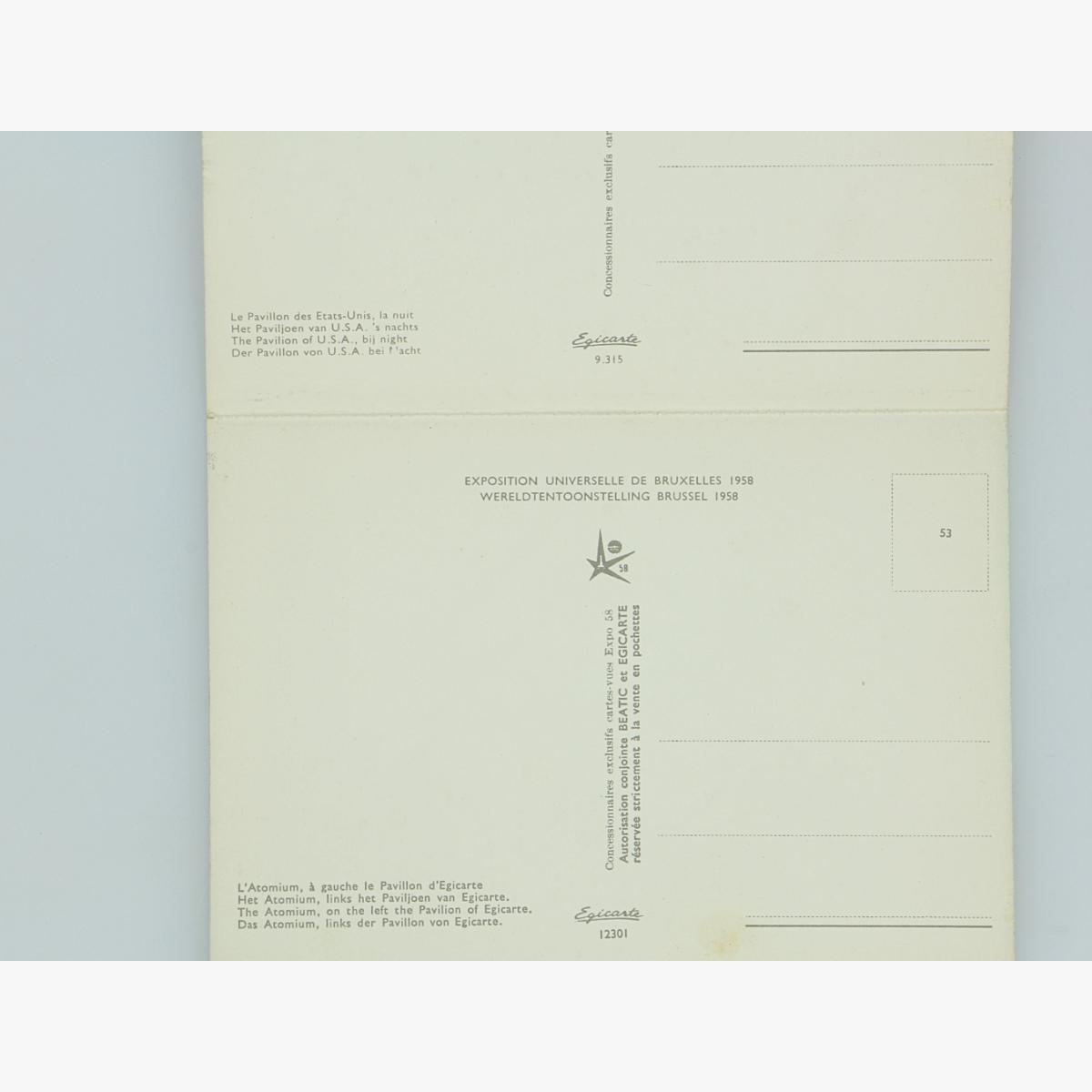 Afbeeldingen van expo 58 postkaarten 10 stuks serie 10c copyright by egicarte