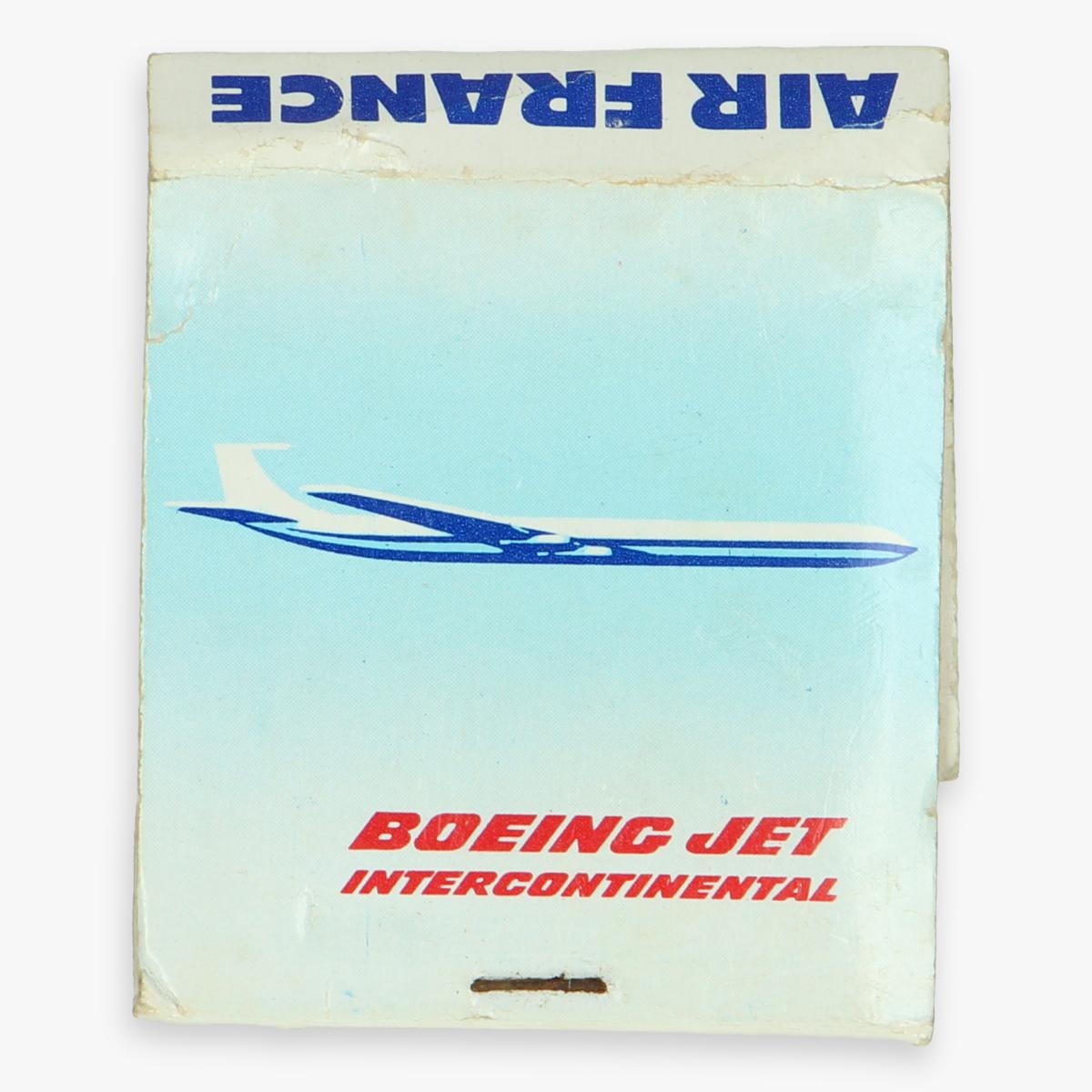 Afbeeldingen van lucifer doosje air france boeing jet intercontinental - zitten geen lucifers meer in