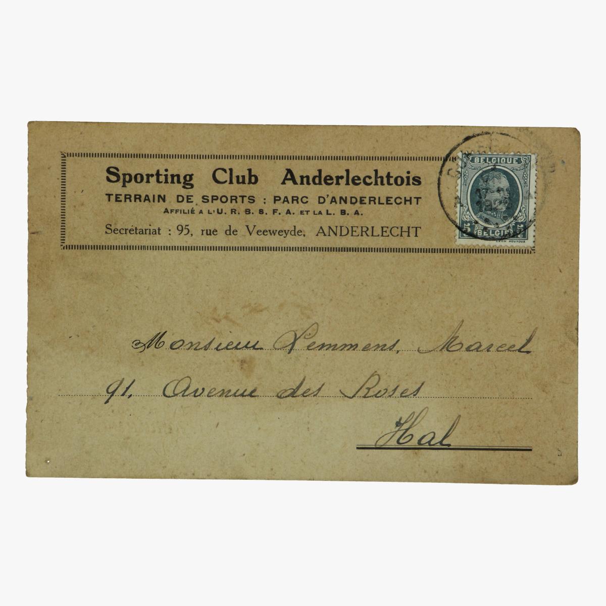 Afbeeldingen van sporting club anderlechtois 1926 oproep om naar training te komen