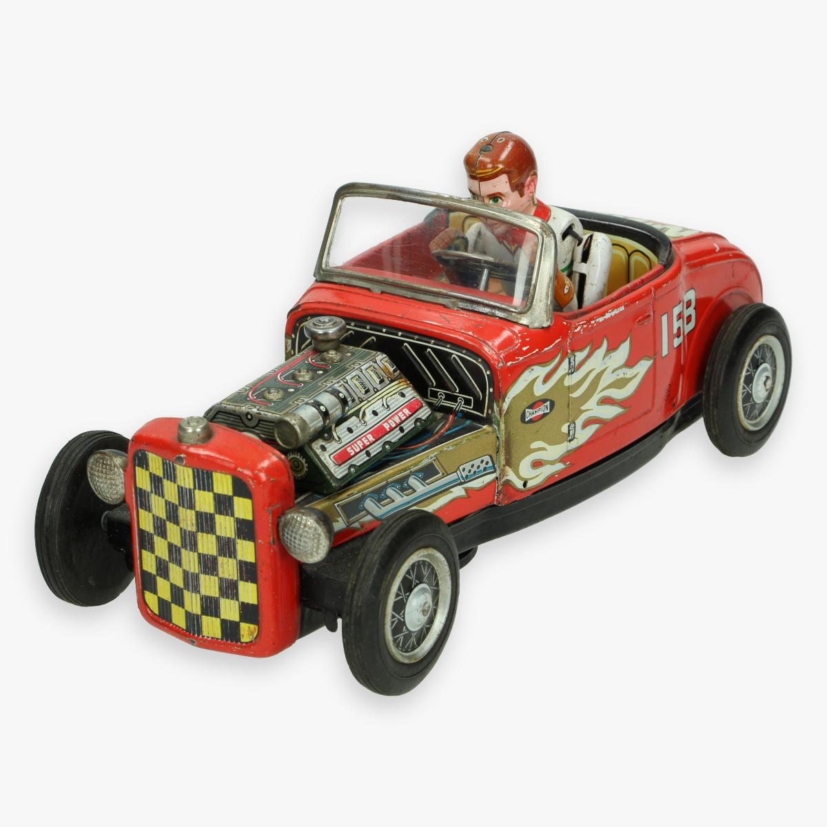Afbeeldingen van tin toy hot rod jaren 50 nomura made in Japan