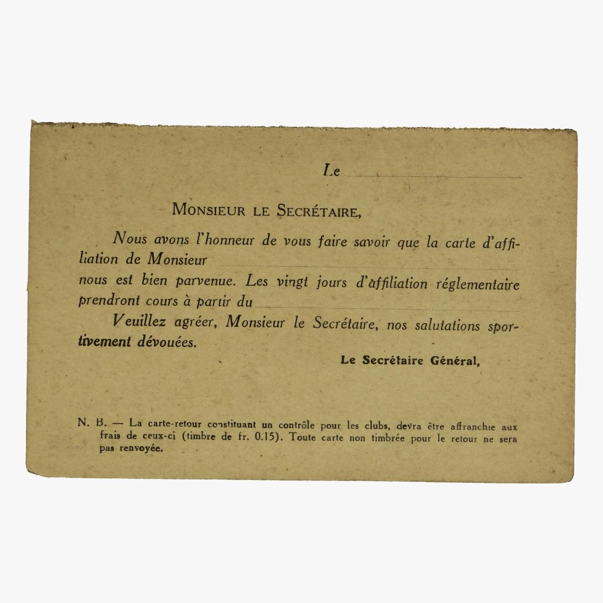 Afbeeldingen van voetbal membre de club effectif s.c. anderlechtois 1921