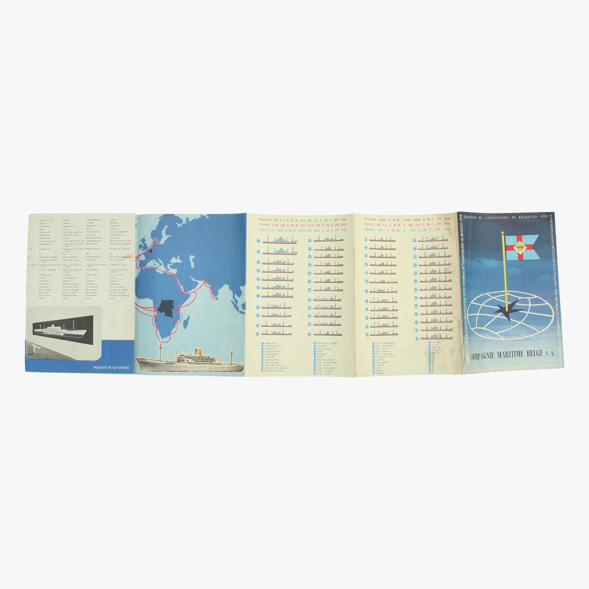 Afbeeldingen van expo 58 compagnie maritime belge s.a. herinnering aan de tentoonstelling brussel 1958