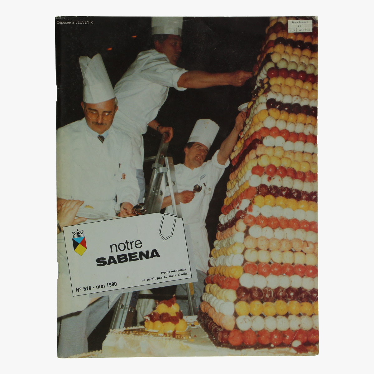 Afbeeldingen van maanblad onze sabena mei 1990 tweetalig frans nederlands