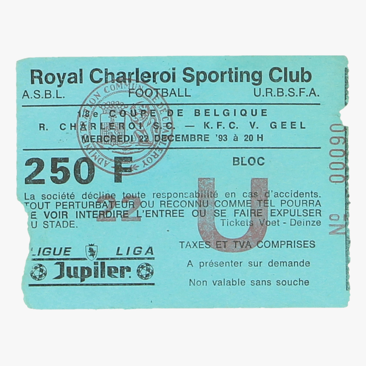 Afbeeldingen van ticket royal charleroi sporting