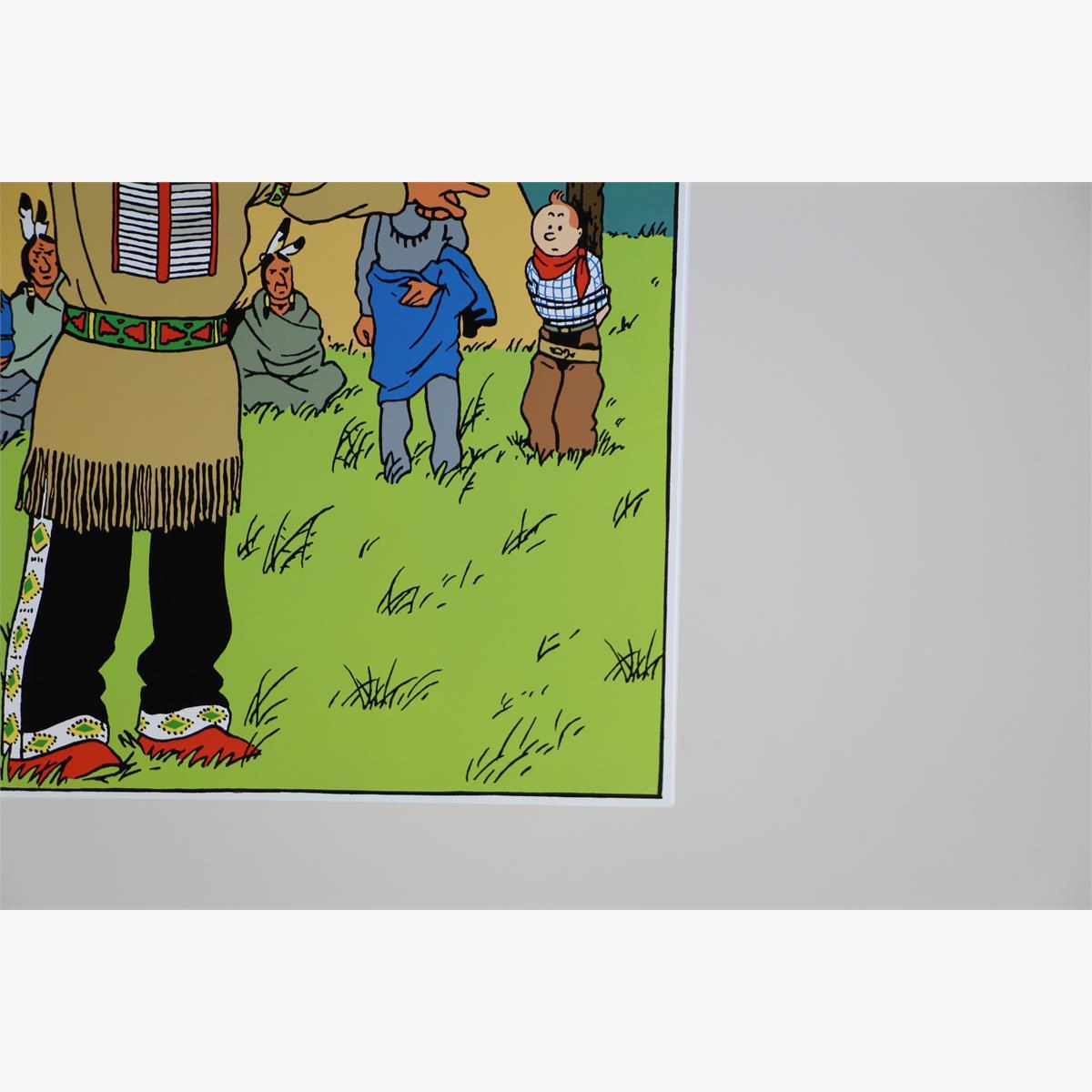 Afbeeldingen van emaille bord kuifje in amerika 1993 oplage 77 ex plaque emaillee tintin en amerique tirage limité 77 ex