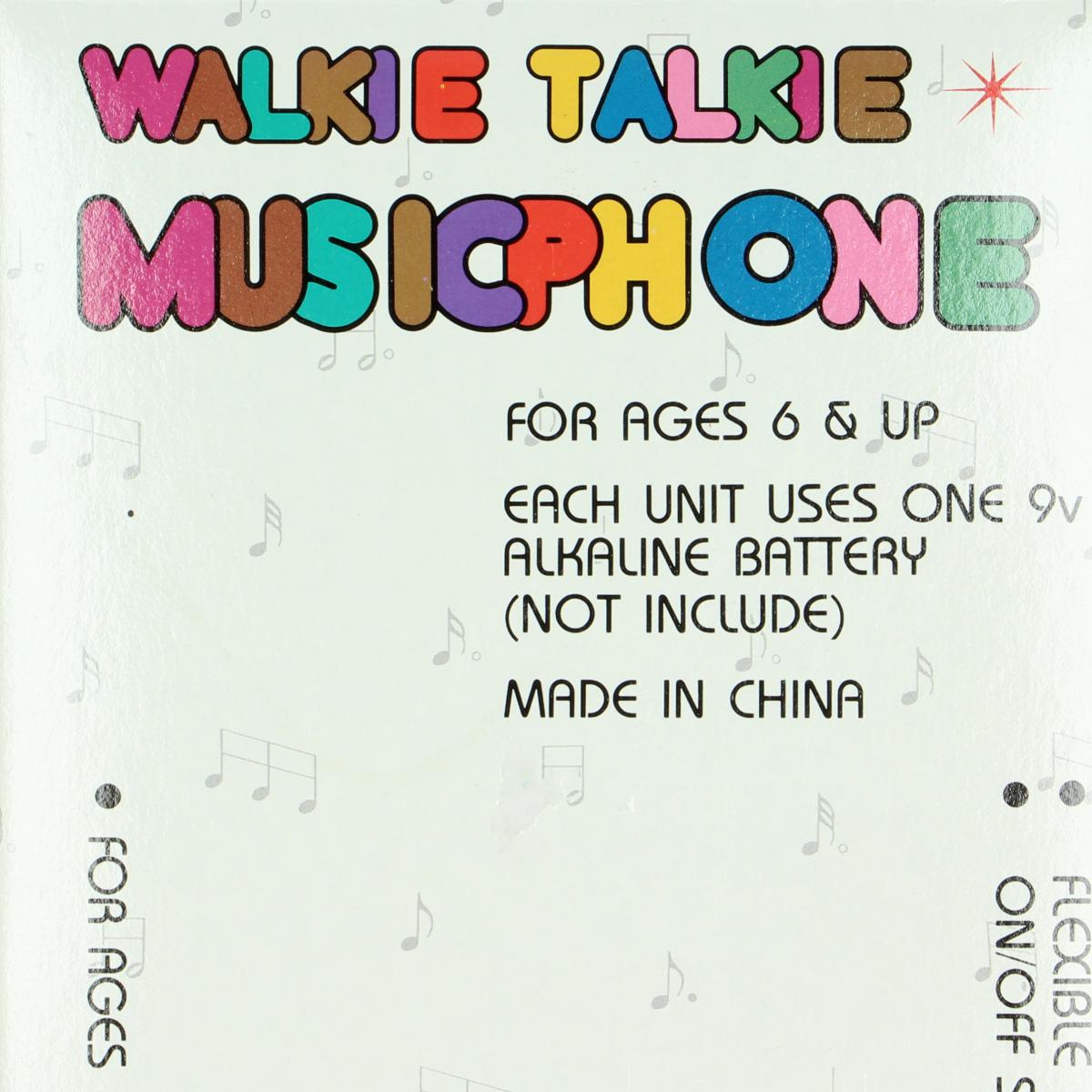 Afbeeldingen van Walkie Talkie Musicphone. Speelgoed.