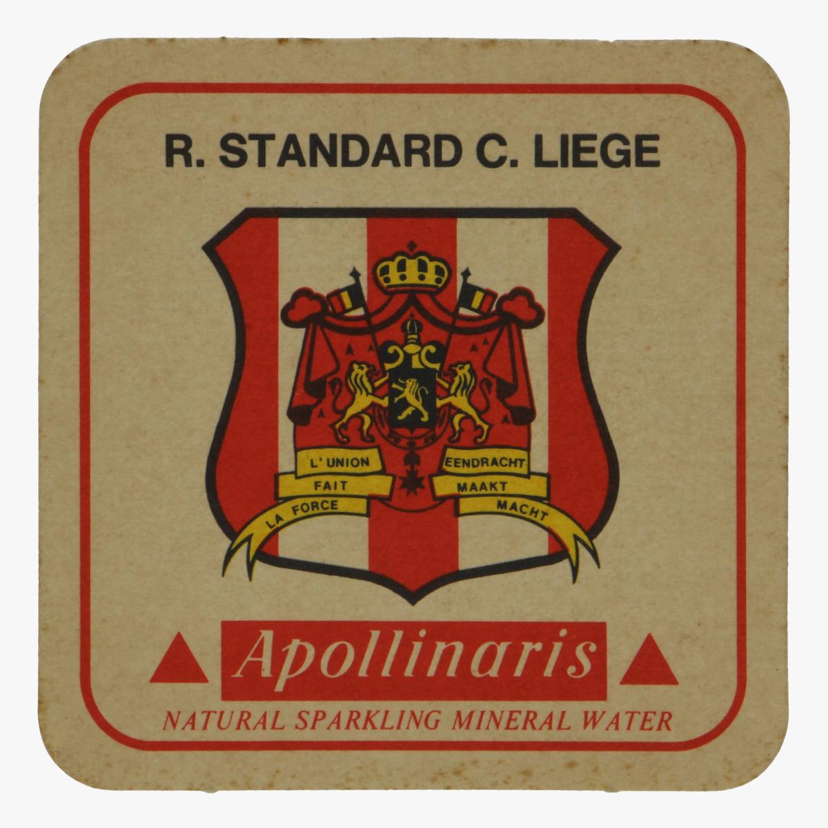 Afbeeldingen van bierkaartje r. standard c.liege apollinaris