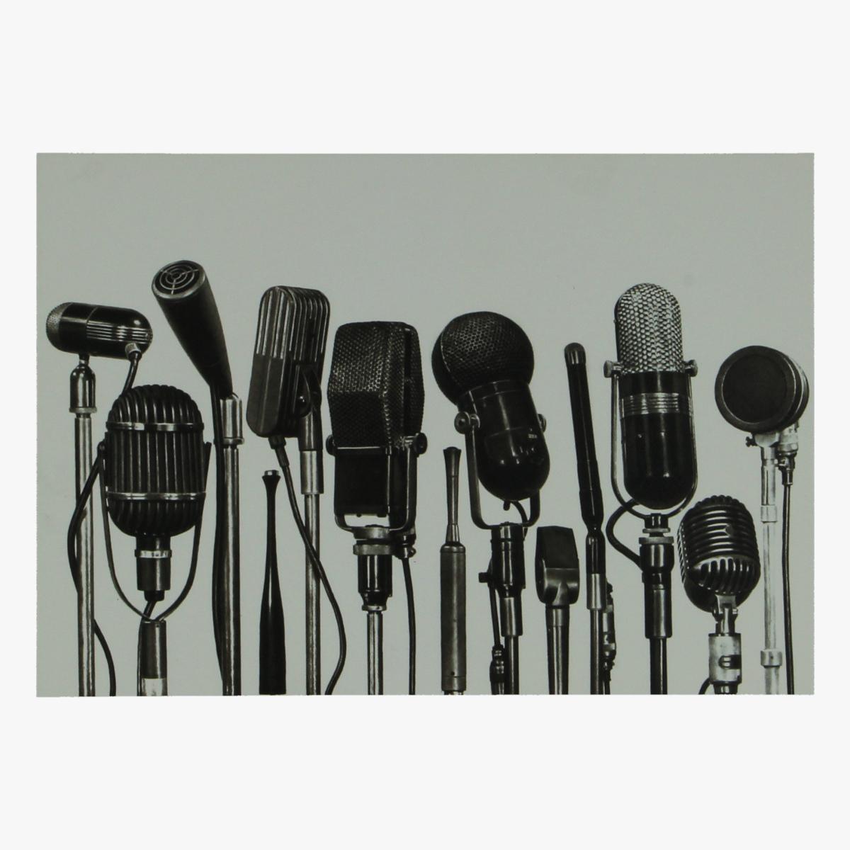 Afbeeldingen van postkaart verschillende soorten microphones