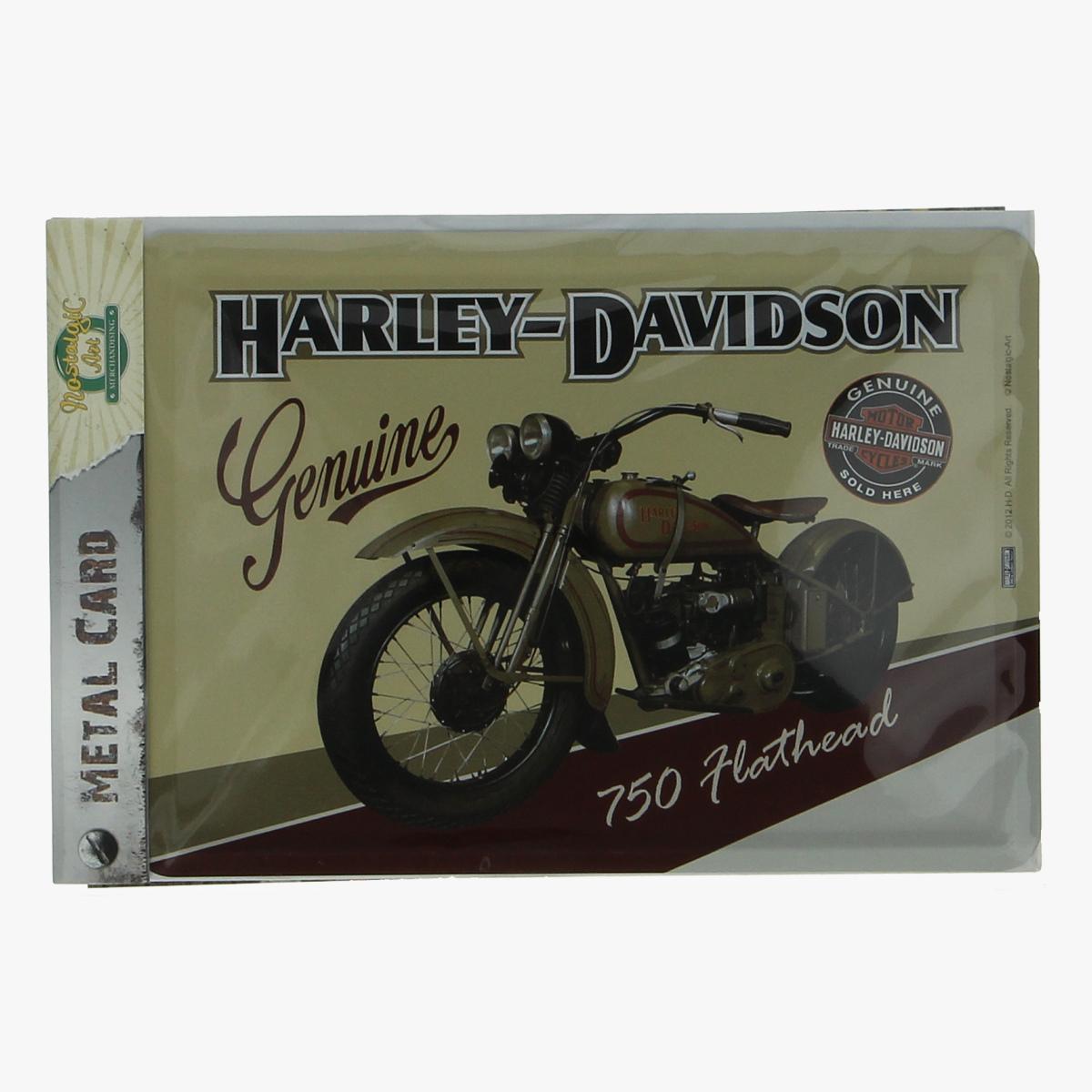 Afbeeldingen van metal card Harley-Davidson Genuine