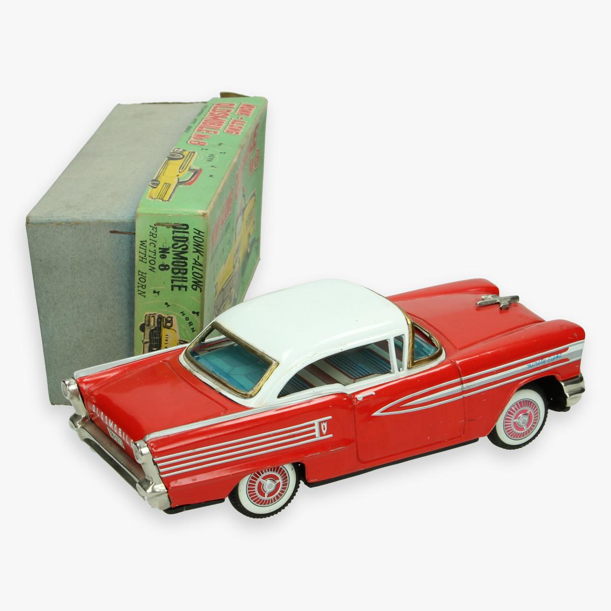 Afbeeldingen van honk along oldsmobile tin toy mib. jaren 50 ichiko made in Japan