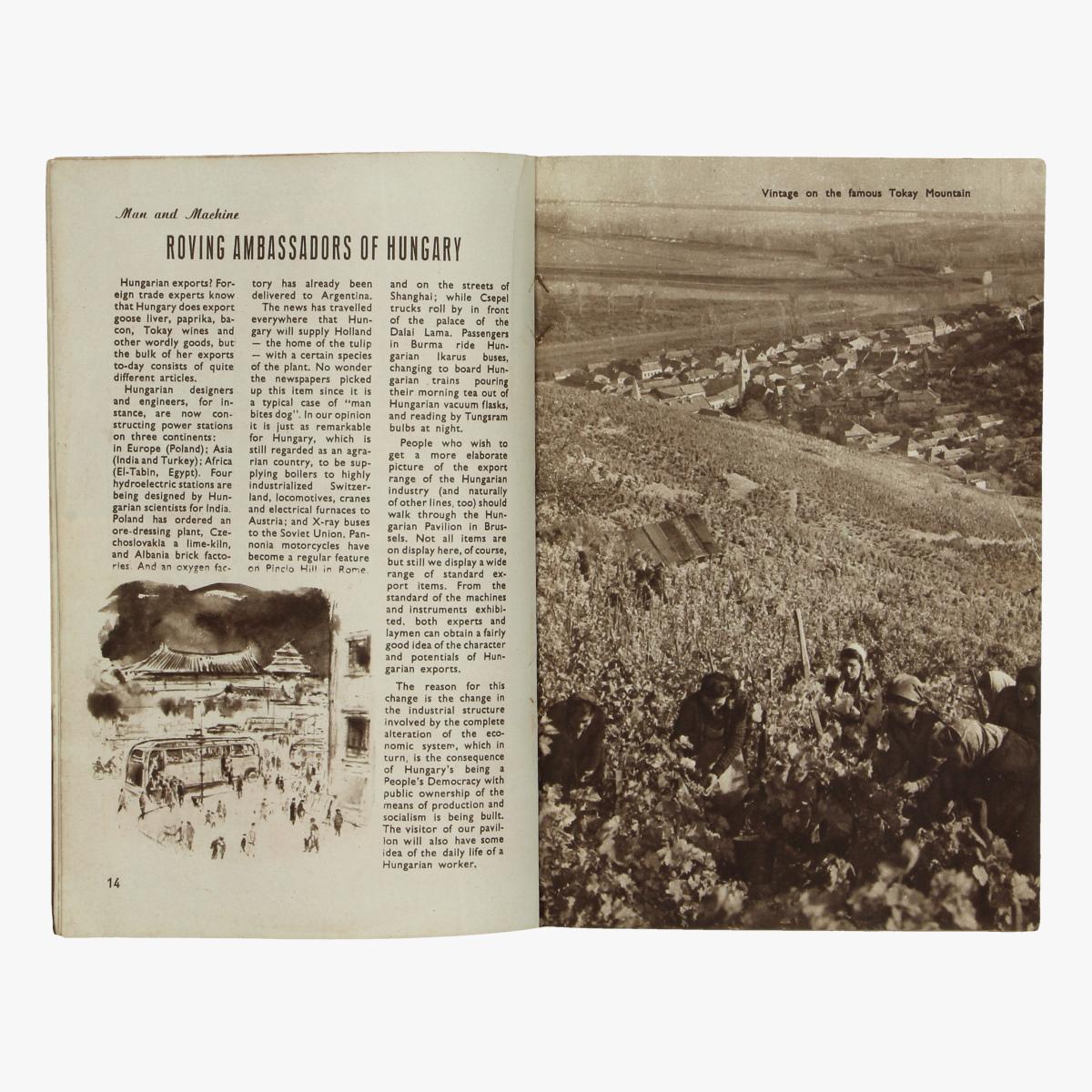 Afbeeldingen van expo 58 boekje hungary in pictures