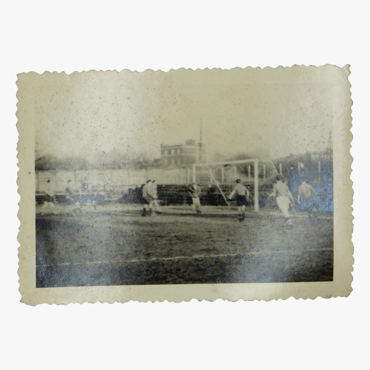Afbeeldingen van oude foto voetbal 8cm op 6.5 cm