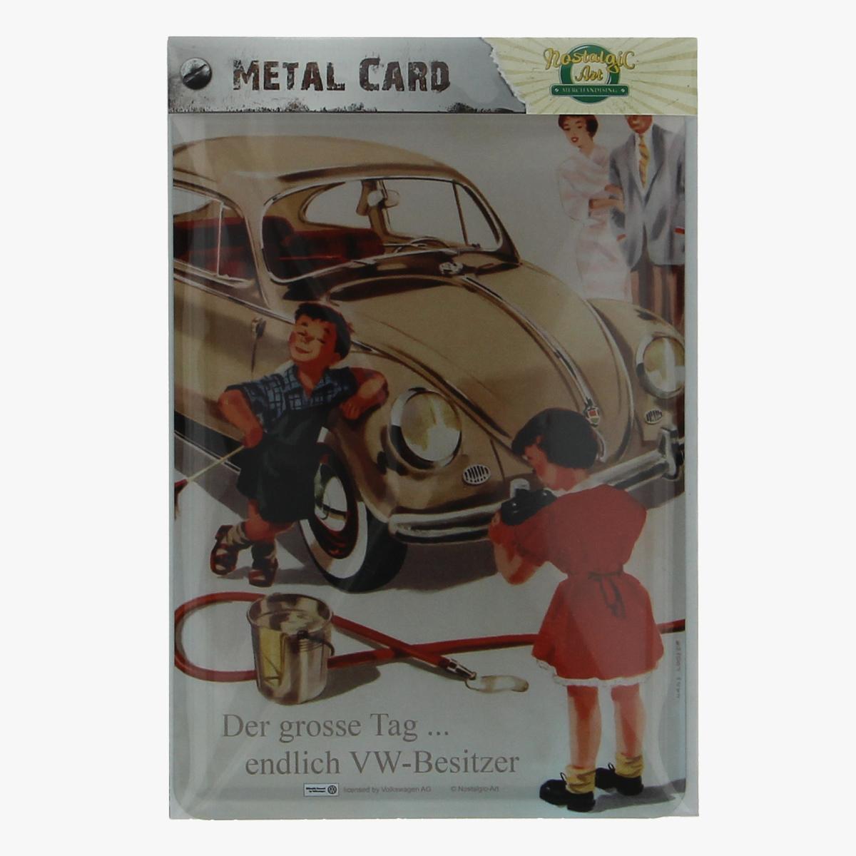 Afbeeldingen van metal card der grosse tag... endlich VW-Besitzer