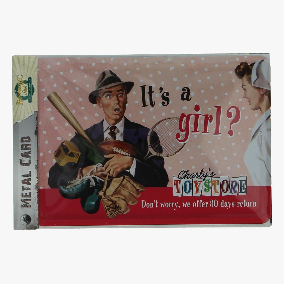 Afbeeldingen van metal card it's a girl?