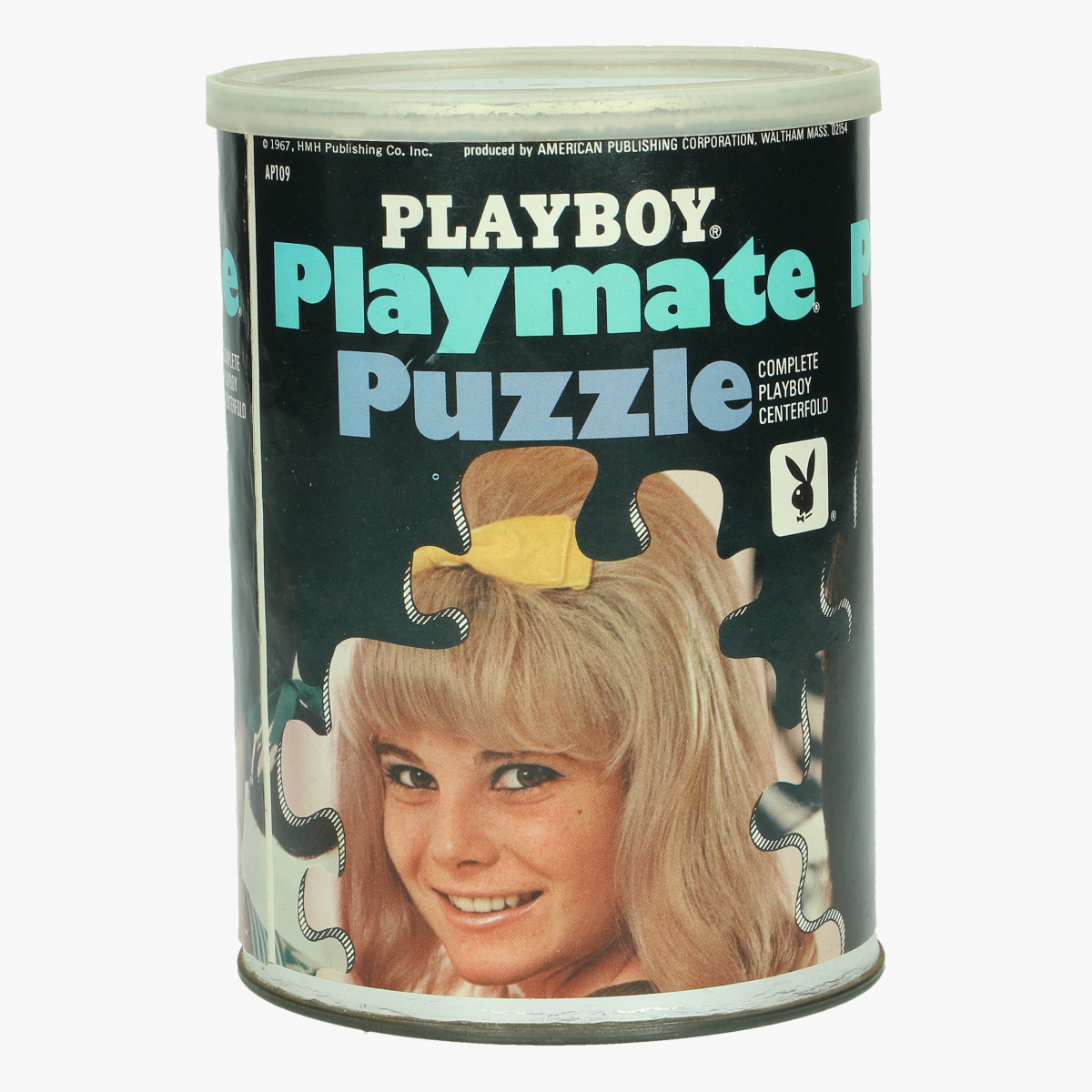 Afbeeldingen van vintage playboy puzzel miss november 1967 paige young produced by american publishing corporation, waltham mass
