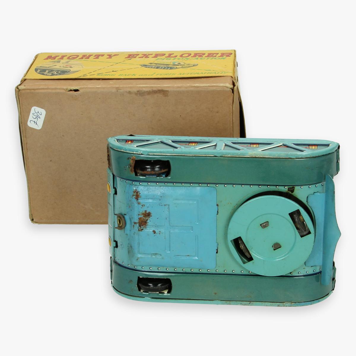 Afbeeldingen van mighty exployer yonezana boxed made in japan  space tank  n- 58 boxed