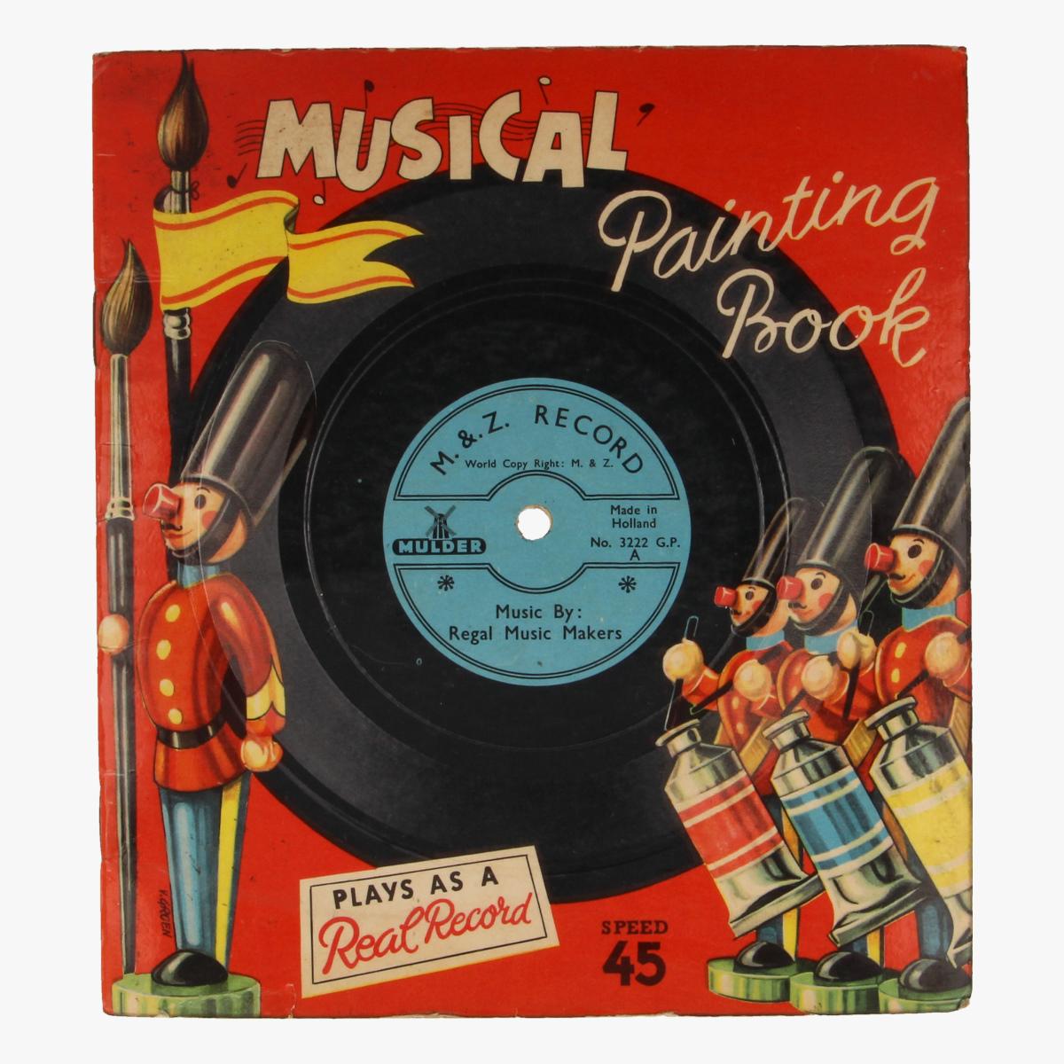 Afbeeldingen van Musical painting book LP 45 toeren