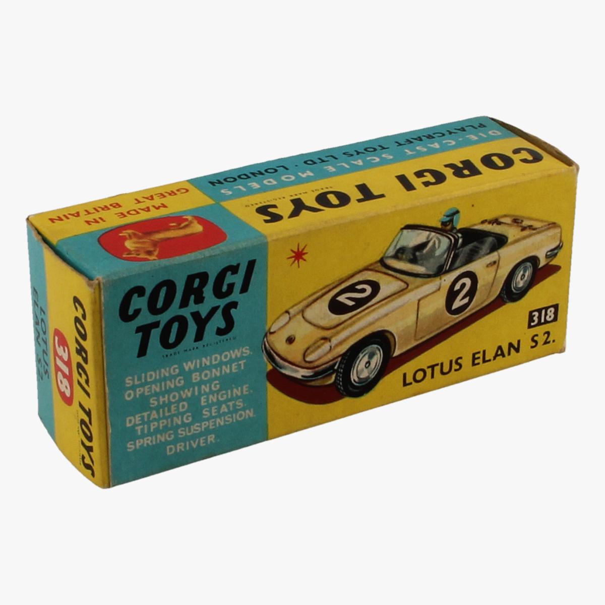 Afbeeldingen van Corgi Toys. Lotus Elan S2. Nr. 318