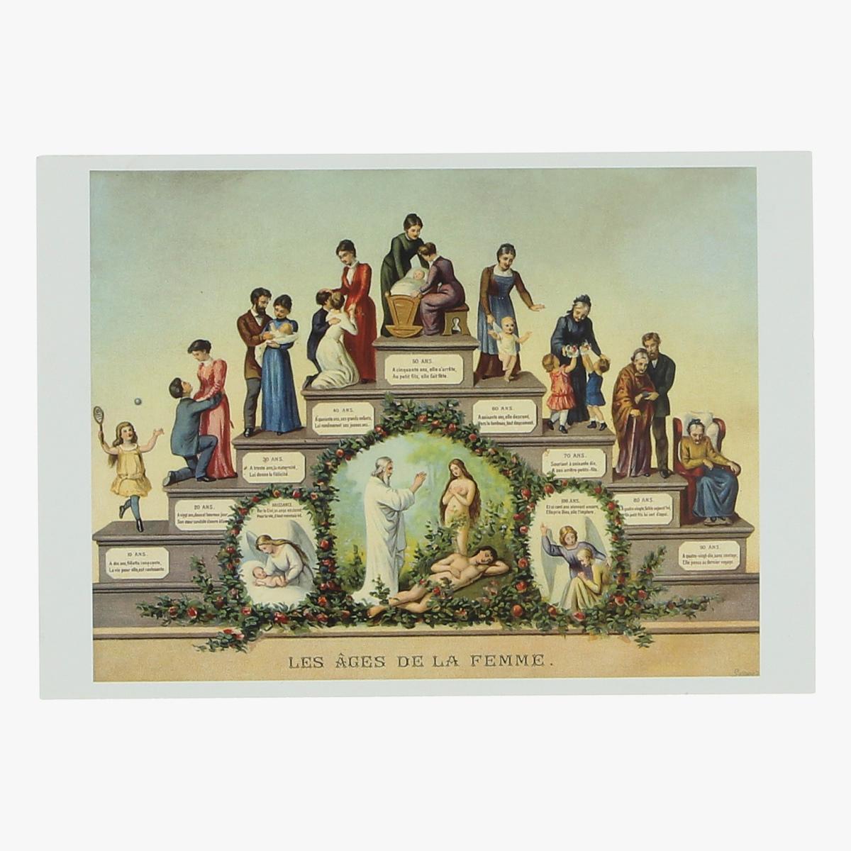 Afbeeldingen van postkaart Les ages la femme