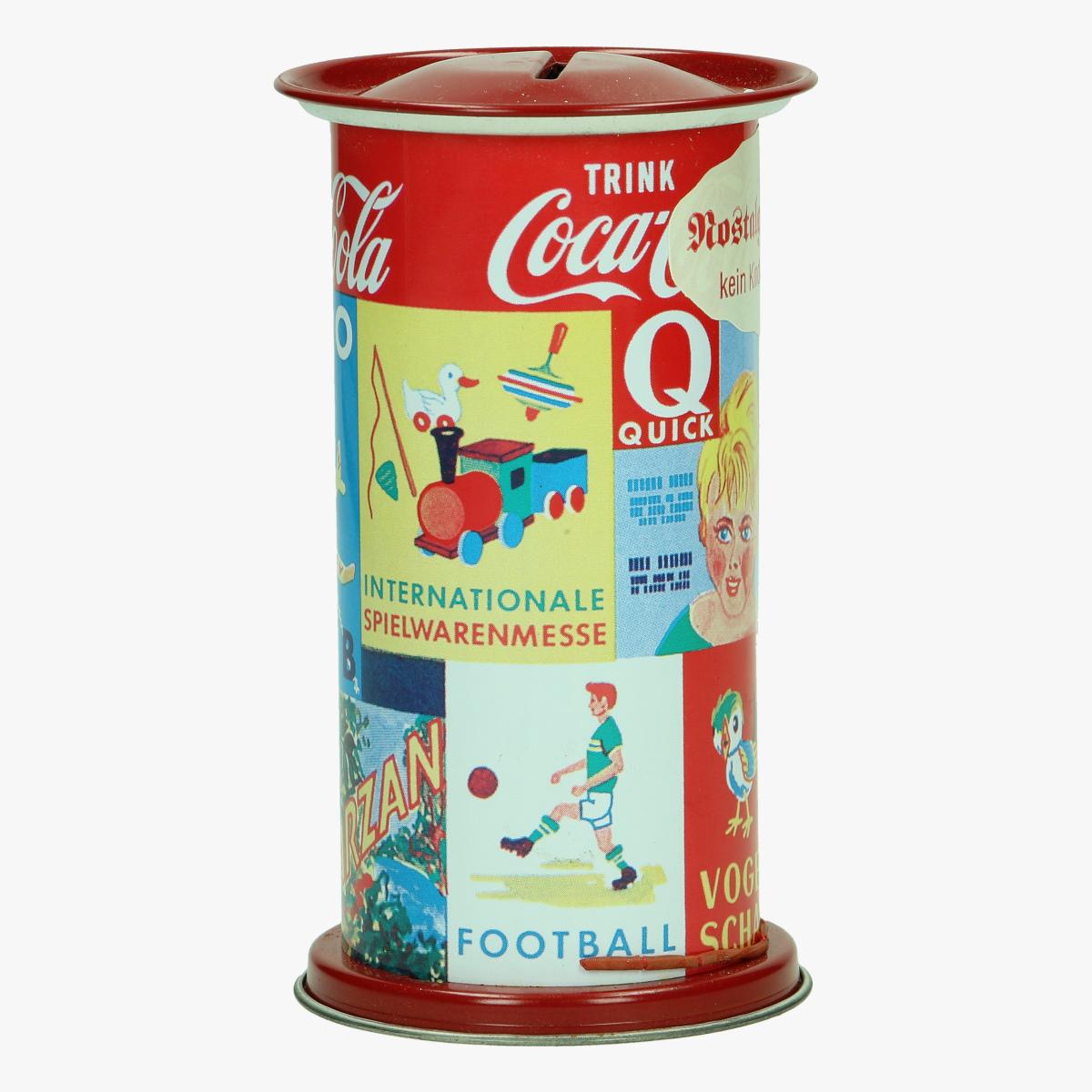 Afbeeldingen van blikken spaarpot repro coca cola