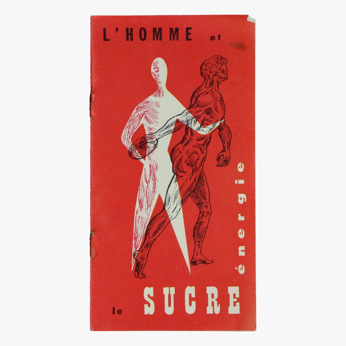 Afbeeldingen van expo 58 flyer l'homme et le sucre énérgie