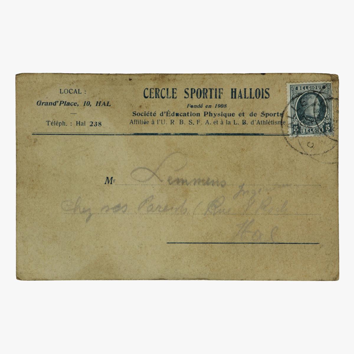 Afbeeldingen van cercle sportif hallois 1927 uitnodiging voor een match