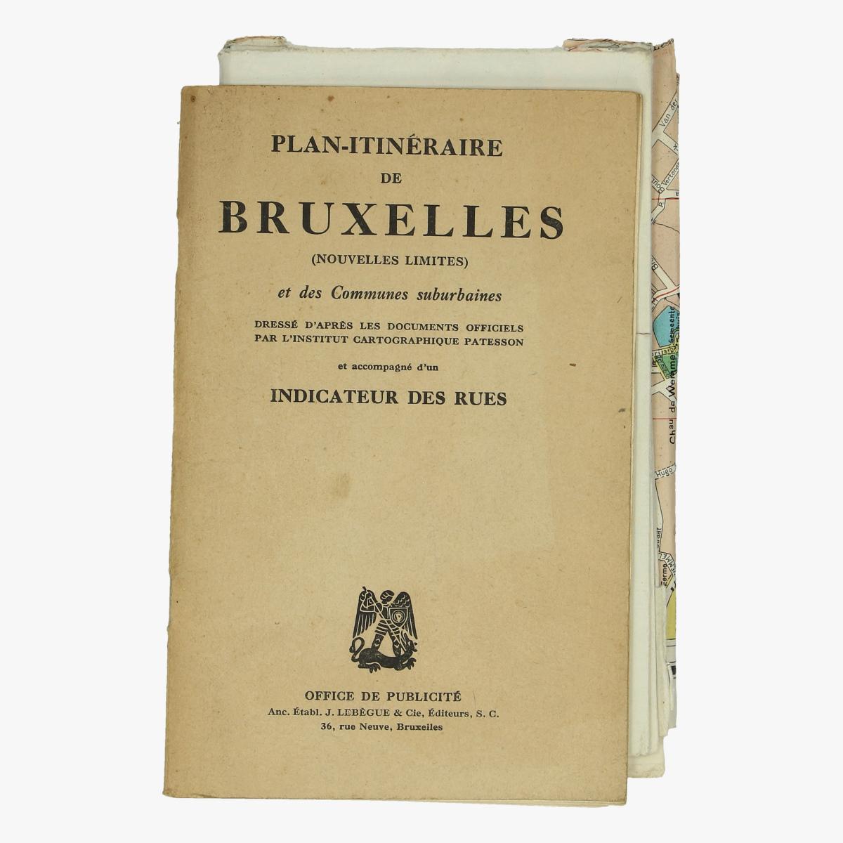 Afbeeldingen van plan-itinéraire de bruxelles nouvelles limites et des communes suberbaines