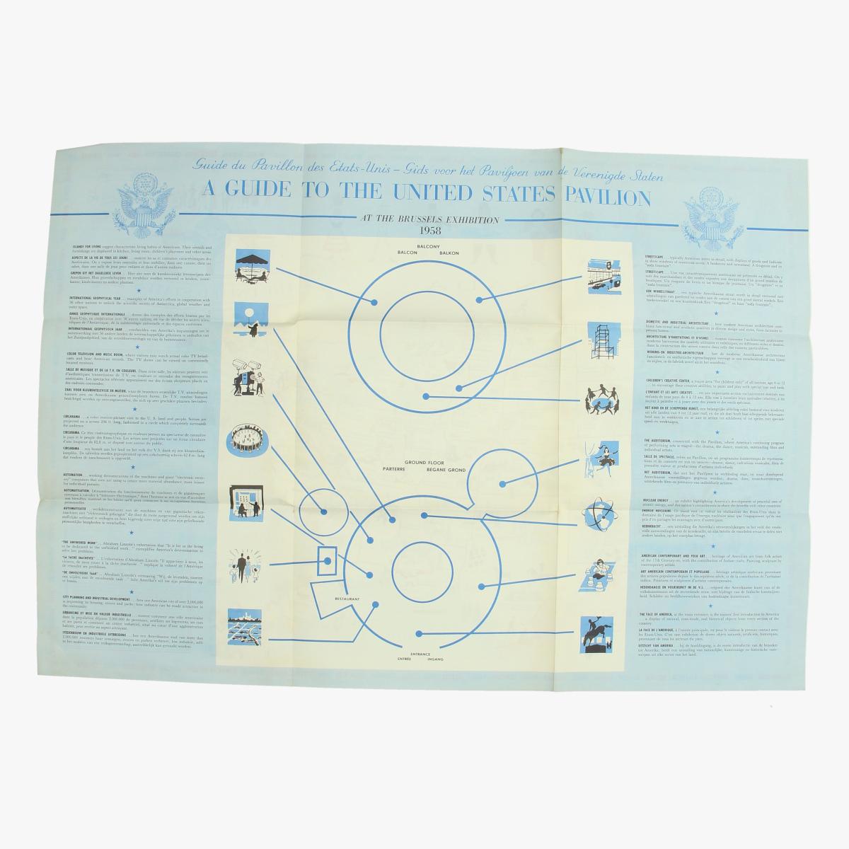 Afbeeldingen van expo 58 guide to de united states pavilion