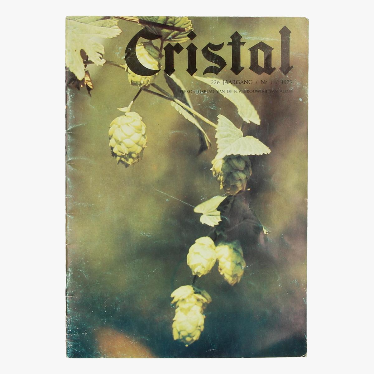 Afbeeldingen van cristal tijschrift 22e Jaargang/ nr1/ 1975