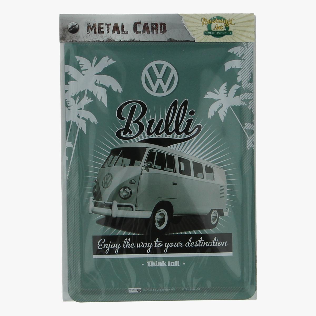 Afbeeldingen van metal card bulli Enjoy the way to your destination volkswagen busje