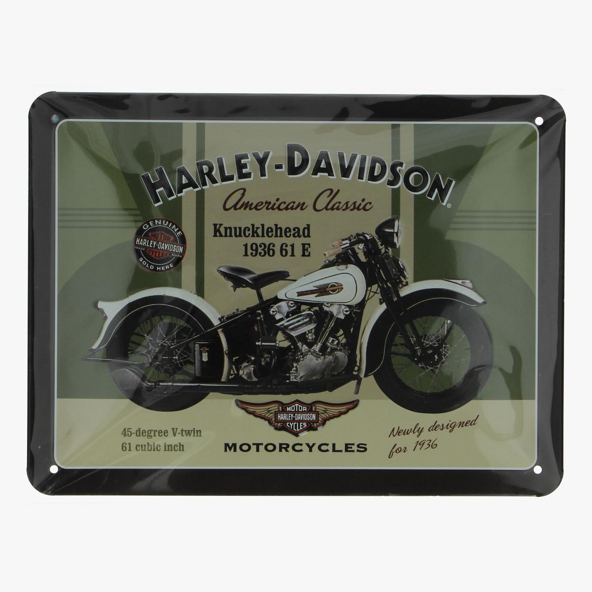 Afbeeldingen van blikken bordje Harley-Davidson repro