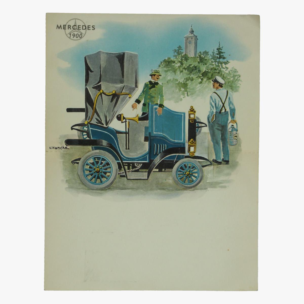 Afbeeldingen van wenskaart met plooi effect papier mercedes V. Hancke