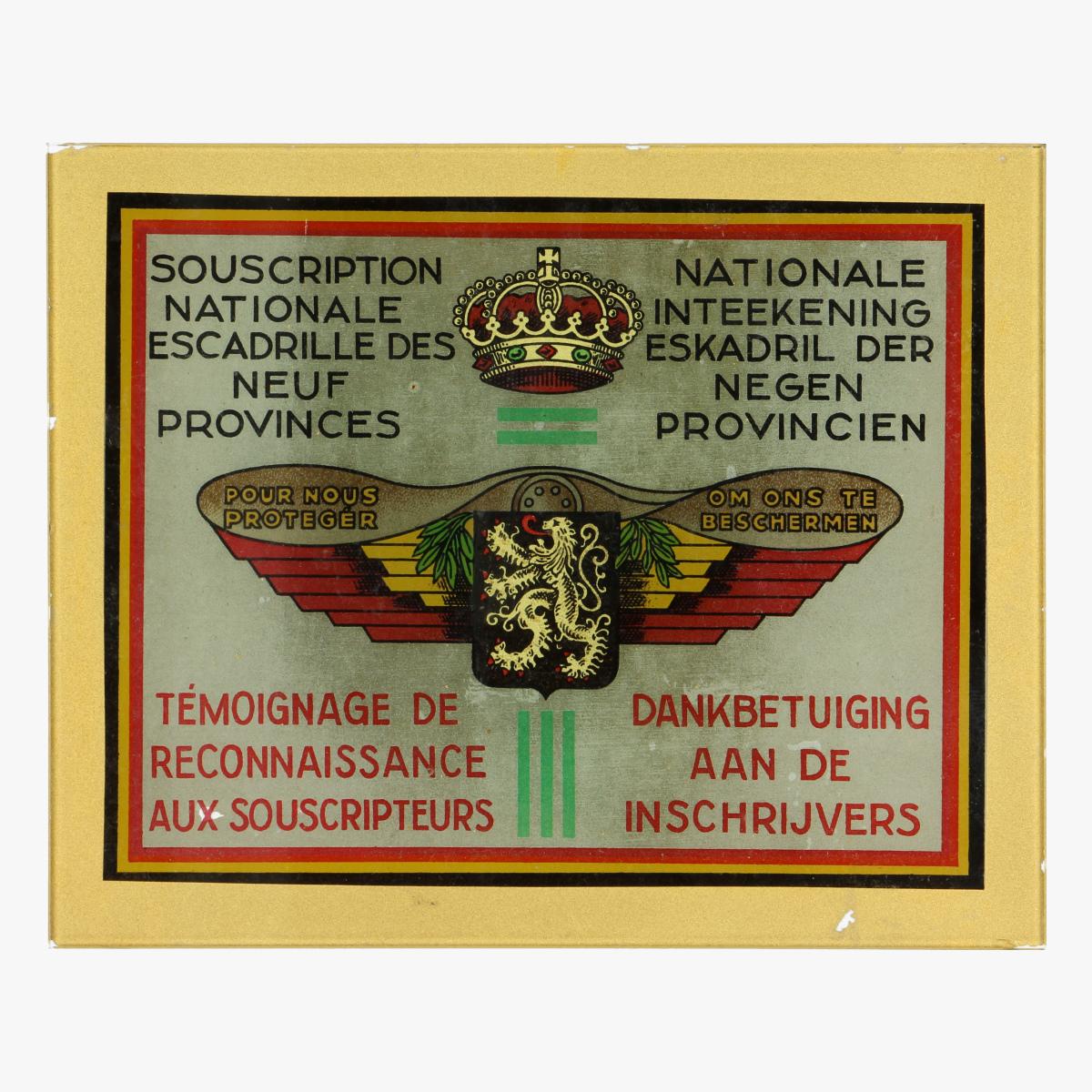 Afbeeldingen van Dankplaqette in glas eskadril der negen provinciën