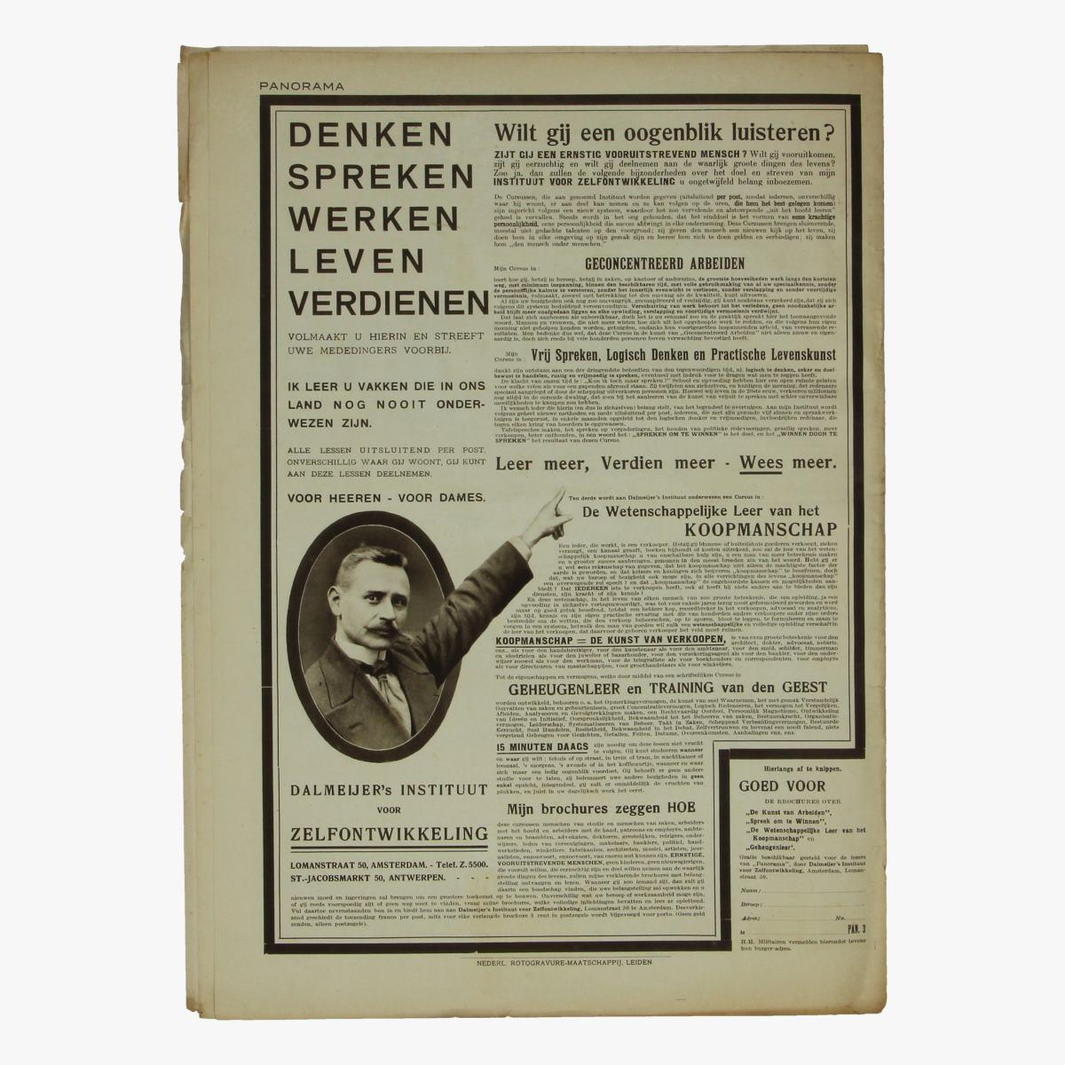 Afbeeldingen van oude weekblad panorama N° 52  28 juni 1915