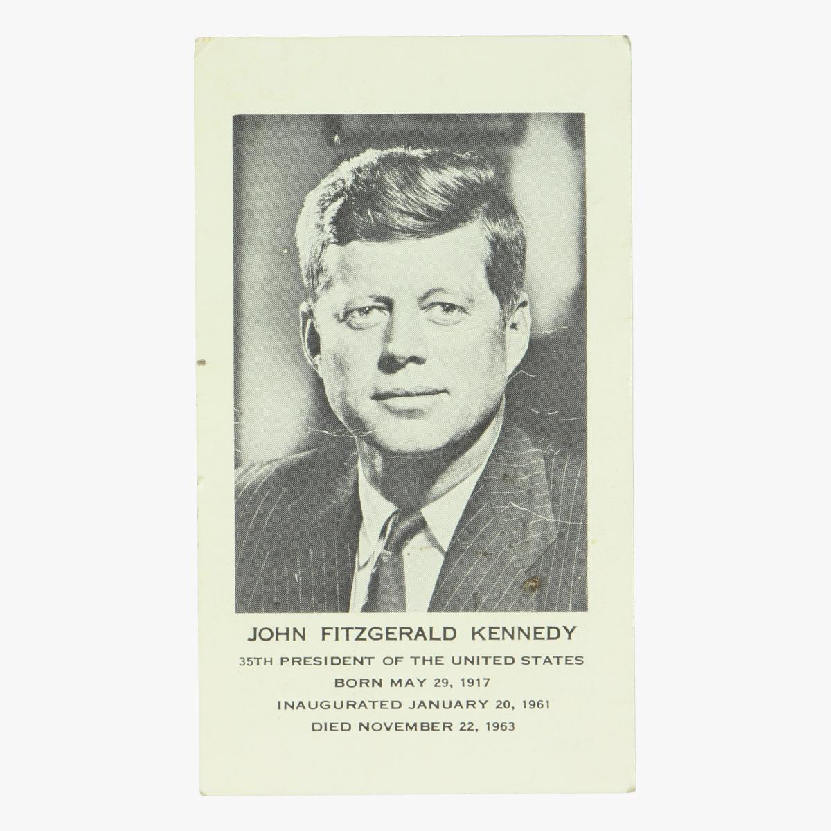 Afbeeldingen van JFK Kennedy Doodsprentje