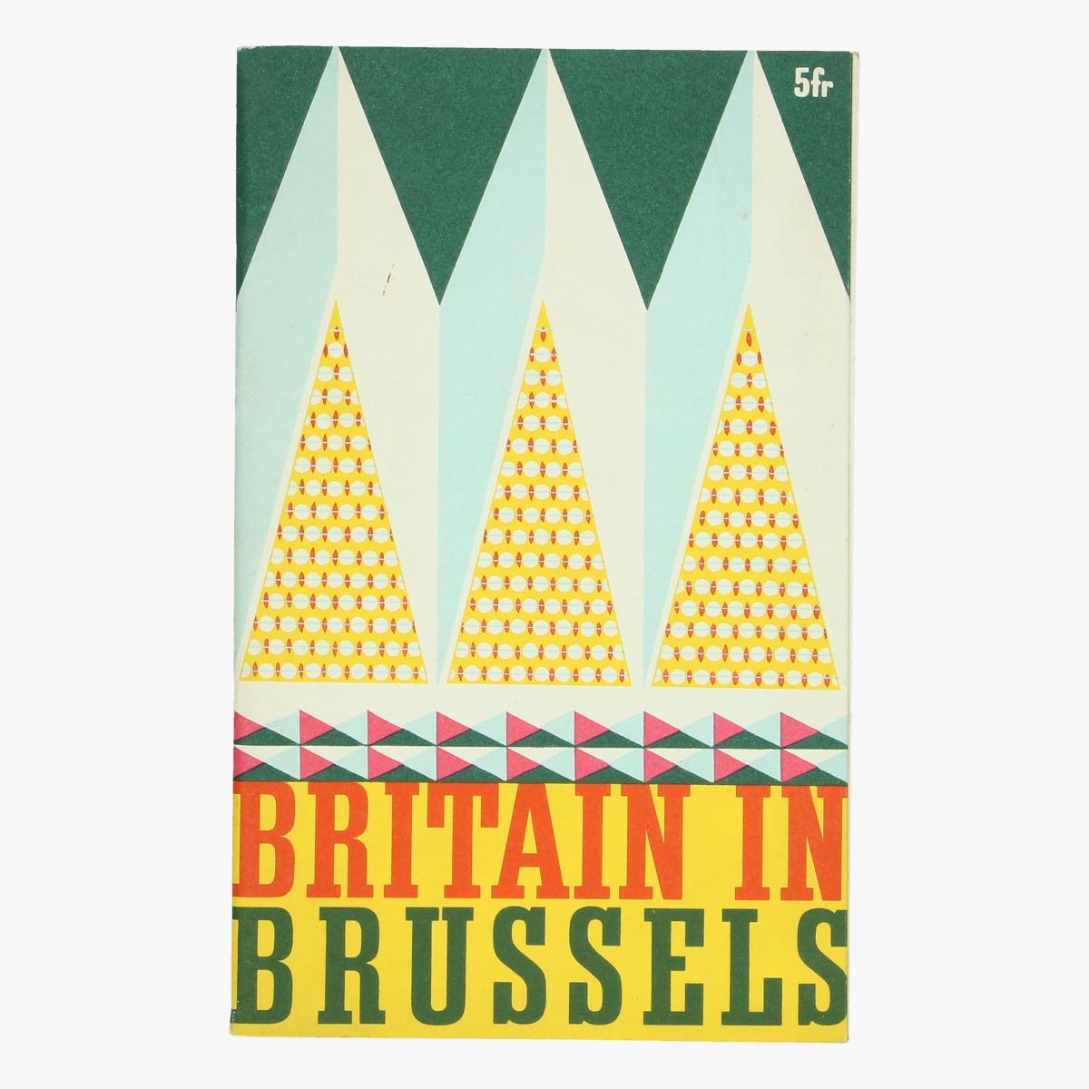 Afbeeldingen van expo 58 boekje  britain in brussels british goverment pavilion