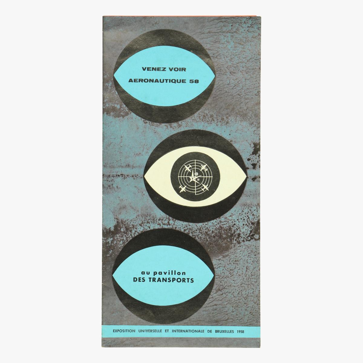 Afbeeldingen van expo 58 flyer venez voir au pavillon des transport