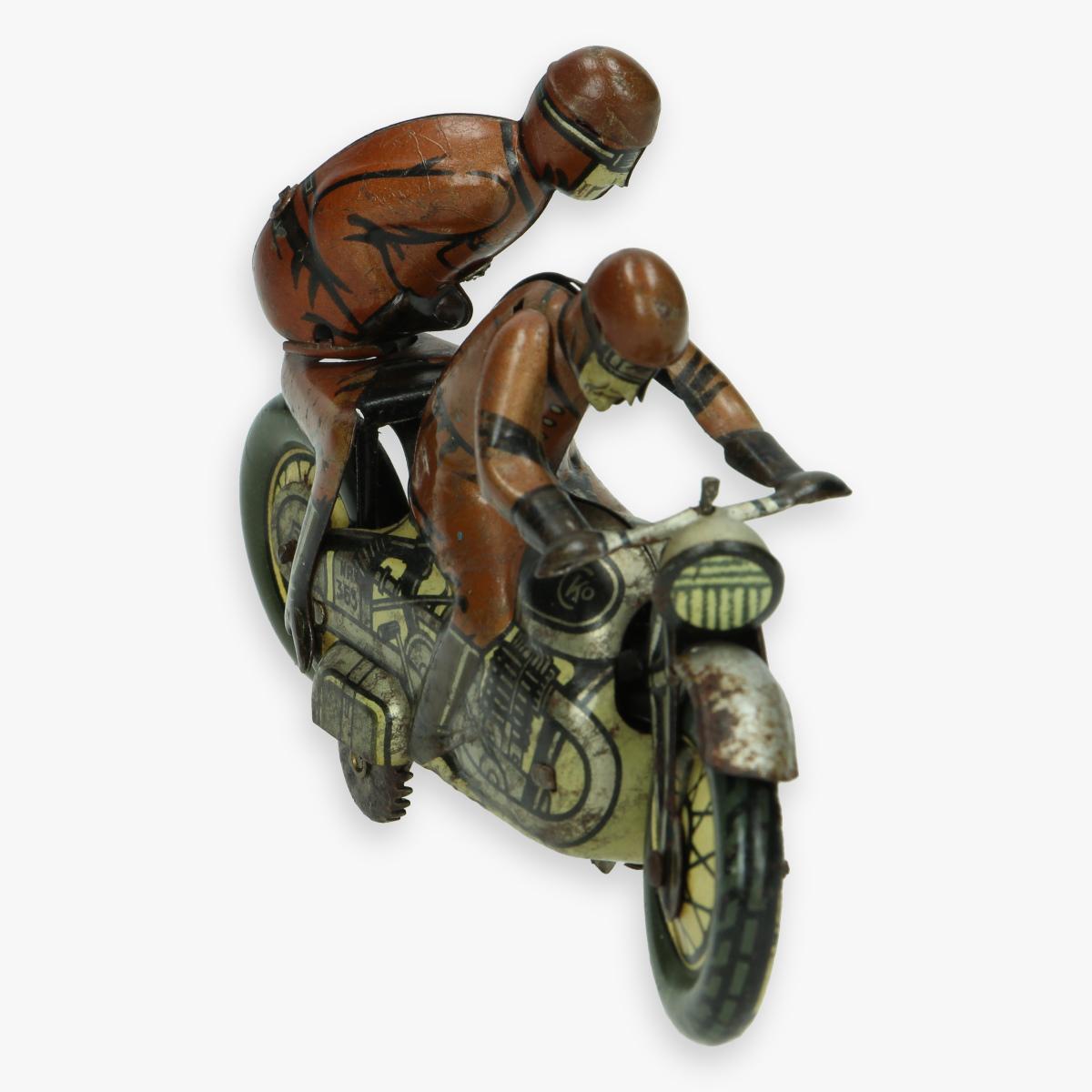 Afbeeldingen van kellerman sozuis cko jaren 30 tin toy motorcycle nr 353 military zeer zeldzaam